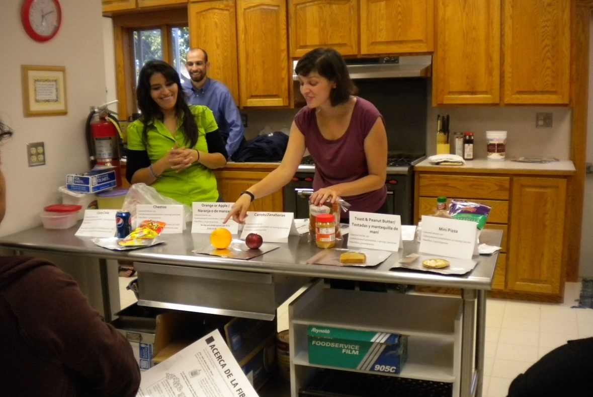Emily Carroll teaches healthy eating practices at a wellness program