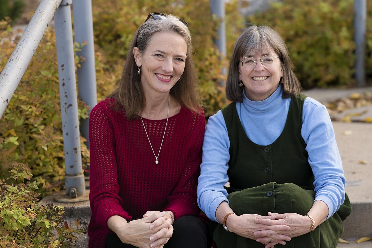 Photos of HealthFinders Volunteers Sharon and Diane