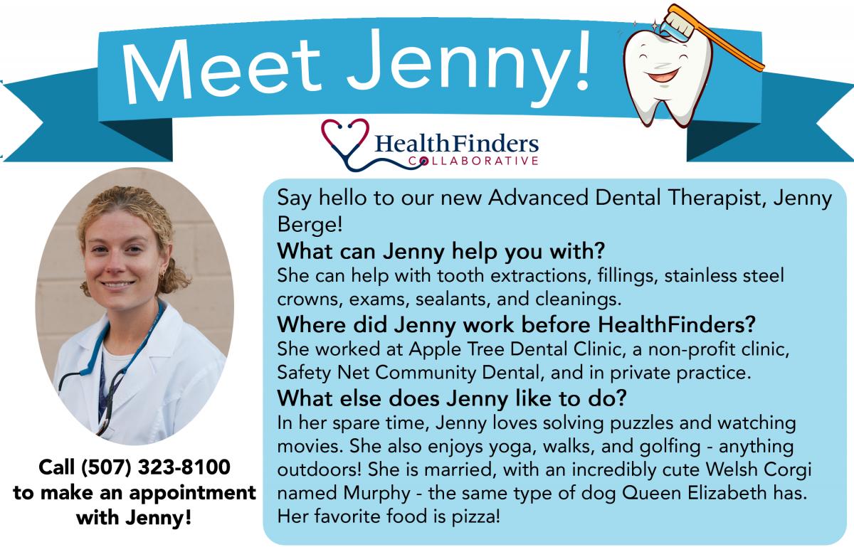 Meet Jenny Berg in English text