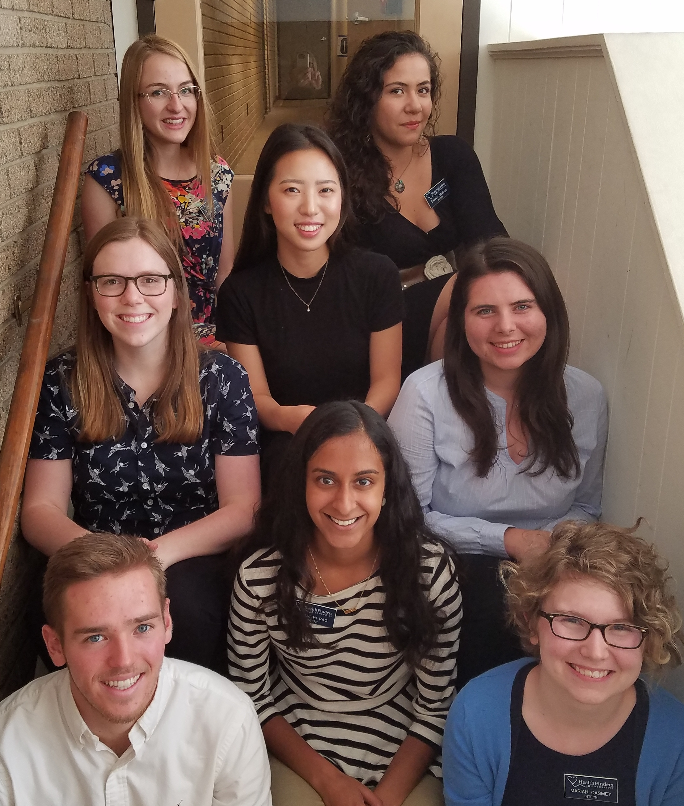 Summer 2017 Interns from Carleton and St. Olaf at HealthFinders' Northfield Location